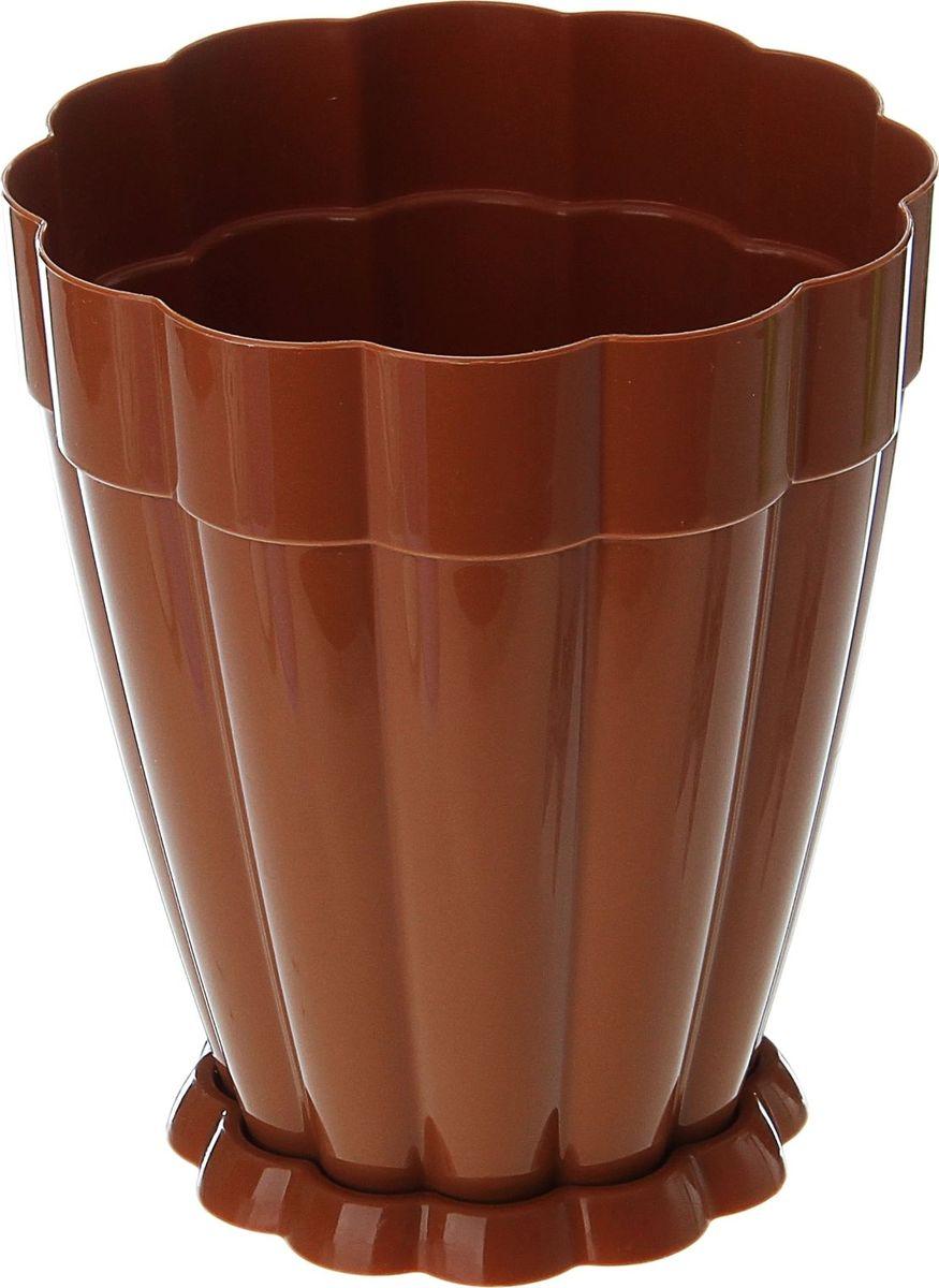 Горшок для цветов Альтернатива Фантастика, с поддоном, цвет: коричневый, 1,5 л868021Любой, даже самый современный и продуманный интерьер будет не завершенным без растений. Они не только очищают воздух и насыщают его кислородом, но и заметно украшают окружающее пространство. Такому полезному члену семьи просто необходимо красивое и функциональное кашпо, оригинальный горшок или необычная ваза!Горшок с поддоном Альтернатива Фантастика выполнен из пластика. Пластиковые изделия не нуждаются в специальных условиях хранения. Их легко чистить, достаточно просто сполоснуть теплой водой. Пластиковые кашпо не царапают и не загрязняют поверхности, на которых стоят. Пластик дольше хранит влагу, а значит растение реже нуждается в поливе.