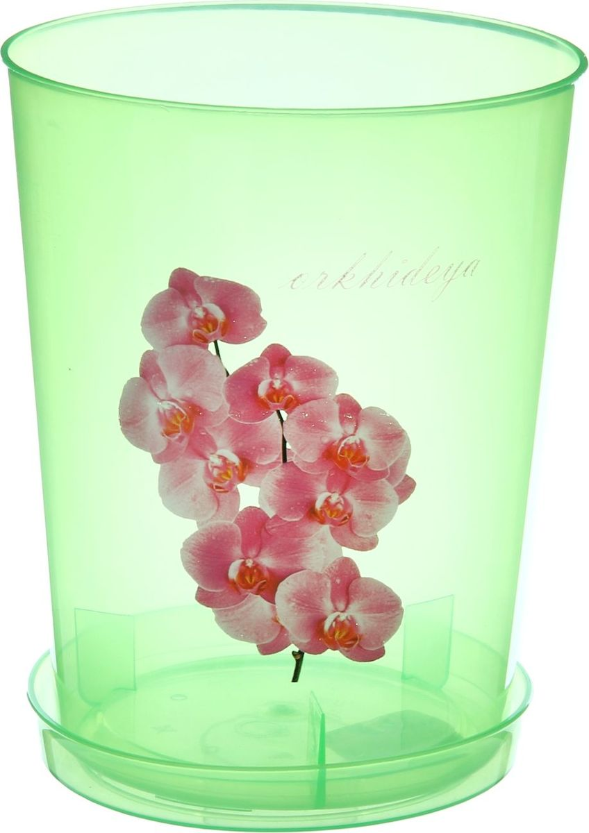 Горшок Альтернатива, для орхидеи, с поддоном, цвет: прозрачный, зеленый, 3,5 л868035Любой, даже самый современный и продуманный интерьер будет не завершённым без растений. Они не только очищают воздух и насыщают его кислородом, но и заметно украшают окружающее пространство. Такому полезному &laquo члену семьи&raquoпросто необходимо красивое и функциональное кашпо, оригинальный горшок или необычная ваза! Мы предлагаем - Горшок для орхидеи 3,5 л, поддон, цвет прозрачно-зеленый!Оптимальный выбор материала &mdash &nbsp пластмасса! Почему мы так считаем? Малый вес. С лёгкостью переносите горшки и кашпо с места на место, ставьте их на столики или полки, подвешивайте под потолок, не беспокоясь о нагрузке. Простота ухода. Пластиковые изделия не нуждаются в специальных условиях хранения. Их&nbsp легко чистить &mdashдостаточно просто сполоснуть тёплой водой. Никаких царапин. Пластиковые кашпо не царапают и не загрязняют поверхности, на которых стоят. Пластик дольше хранит влагу, а значит &mdashрастение реже нуждается в поливе. Пластмасса не пропускает воздух &mdashкорневой системе растения не грозят резкие перепады температур. Огромный выбор форм, декора и расцветок &mdashвы без труда подберёте что-то, что идеально впишется в уже существующий интерьер.Соблюдая нехитрые правила ухода, вы можете заметно продлить срок службы горшков, вазонов и кашпо из пластика: всегда учитывайте размер кроны и корневой системы растения (при разрастании большое растение способно повредить маленький горшок)берегите изделие от воздействия прямых солнечных лучей, чтобы кашпо и горшки не выцветалидержите кашпо и горшки из пластика подальше от нагревающихся поверхностей.Создавайте прекрасные цветочные композиции, выращивайте рассаду или необычные растения, а низкие цены позволят вам не ограничивать себя в выборе.