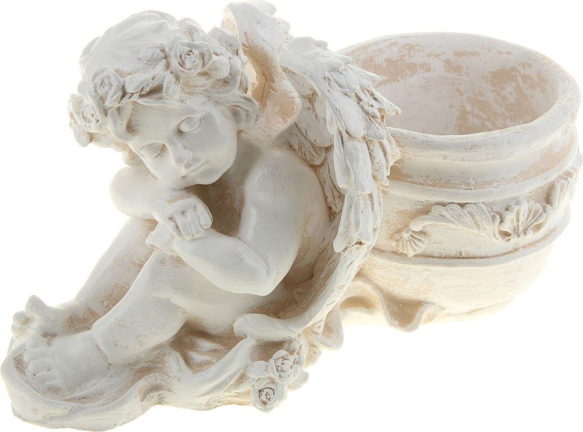 Кашпо  Спящий ангел , цвет: бежевый, 15 х 29 х 21 см -  Садовый декор