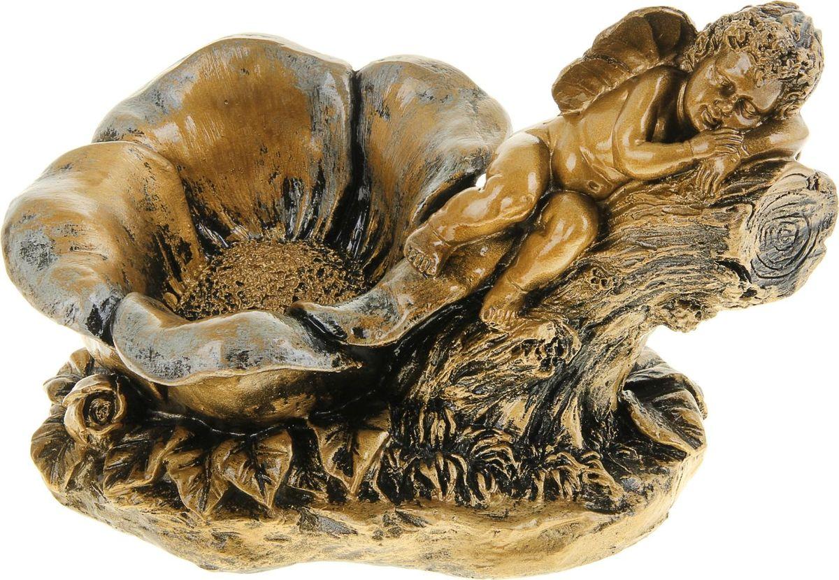 Кашпо Эльф с цветком, цвет: бронзовый, 17 х 29 х 21 см962457Комнатные растения — всеобщие любимцы. Они радуют глаз, насыщают помещение кислородом и украшают пространство. Каждому из растений необходим свой удобный и красивый дом. Поселите зелёного питомца в яркое и оригинальное фигурное кашпо. Выберите подходящую форму для детской, спальни, гостиной, балкона, офиса или террасы. #name# позаботится о растении, украсит окружающее пространство и подчеркнёт его оригинальный стиль.