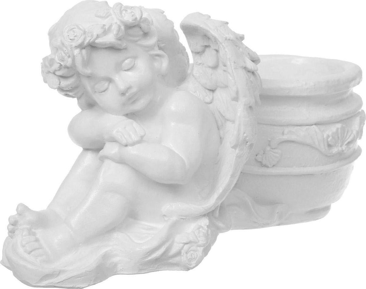 Кашпо Спящий ангел, цвет: белый, 15 х 31 х 18,5 см987018Комнатные растения — всеобщие любимцы. Они радуют глаз, насыщают помещение кислородом и украшают пространство. Каждому из растений необходим свой удобный и красивый дом. Поселите зелёного питомца в яркое и оригинальное фигурное кашпо. Выберите подходящую форму для детской, спальни, гостиной, балкона, офиса или террасы. #name# позаботится о растении, украсит окружающее пространство и подчеркнёт его оригинальный стиль.