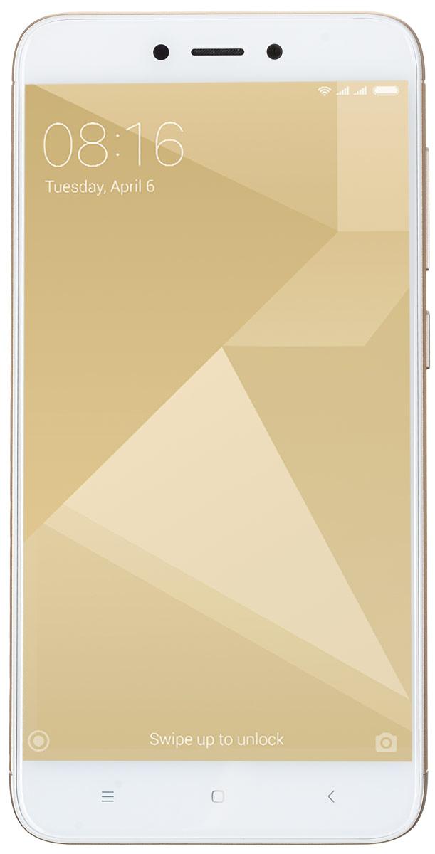 Xiaomi Redmi 4X (16GB), GoldREDMI4XGD16GBXiaomi Redmi 4X собрал в себе все самые важные качества отличного смартфона. Аккумулятор ёмкостью 4100 мАч способен работать до 18 дней в режиме ожидания и до 2 дней при интенсивном использовании.Новый Redmi 4X помещен в красивый металлический корпус, сделанный из анодированного алюминия. Две яркие линии на задней поверхности телефона, образованные благодаря процессу алмазной резки, придают телефону дополнительный блеск.Данная модель удобно лежит в ладони, даже во время долгих игровых сессий или просмотра фильмов. Поставляется с изогнутым стеклом 2.5 D, которое ощущается на удивление гладким, когда вы касаетесь его или проводите пальцем по экрану.Батарея, подпитываемая 8-ядерным процессор Snapdragon 435, который имеет более высокую производительность, а также потребляет меньше энергии по сравнению со своим предшественником. Теперь вы можете играть в любимые игры в течение всего дня, без каких-либо задержек.Часто приходится спешить и на ввод пароля просто нет времени? Дайте пальцам самим сделать это. Redmi 4X содержит сенсор отпечатка пальцев, который предоставляет быстрый доступ к личному профилю и файлам.Почувствуйте разницу, делая снимки на Redmi 4Х. Фотографии получаются четкими и яркими, благодаря 13 Мп задней камере, оснащённой PDAF-матрицей с быстрым фокусированием в 0,3 сек. Камера имеет целый ряд встроенных функций, которые помогут вам без малейших усилий сделать отличные панорамные и чёткие ночные снимки.Redmi 4X позволяет использовать различные пароли или отпечатки пальцев для доступа к соответствующим профилям, с их собственными обоями, приложениями, файлами и фотографиями. Идеальное решение, когда вам необходимо четкое разделение.Два лучше, чем один. Откройте для себя функцию дублирования приложений, позволяющую авторизироваться с двух разных аккаунтов, включая WhatsApp, Facebook.Телефон сертифицирован EAC и имеет русифицированный интерфейс меню и Руководство пользователя.