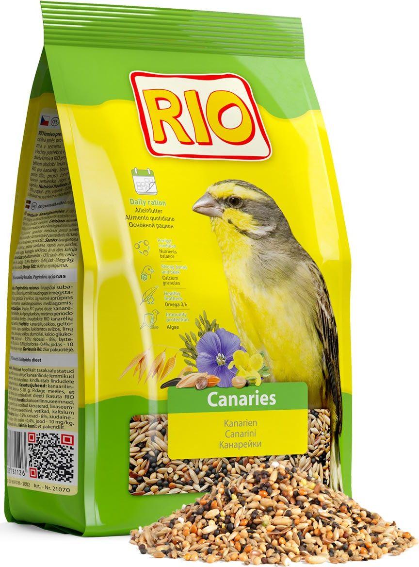 Корм для канареек Rio Основной рацион, 500 г корм вака высокое качество просо для птиц и грызунов 500 гр