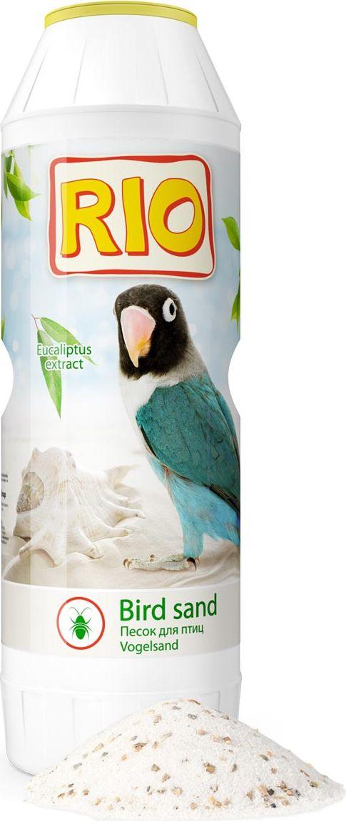Песок гигиенический для птиц RIO, с экстратом эвкалипта и ракушечником, 2 кг