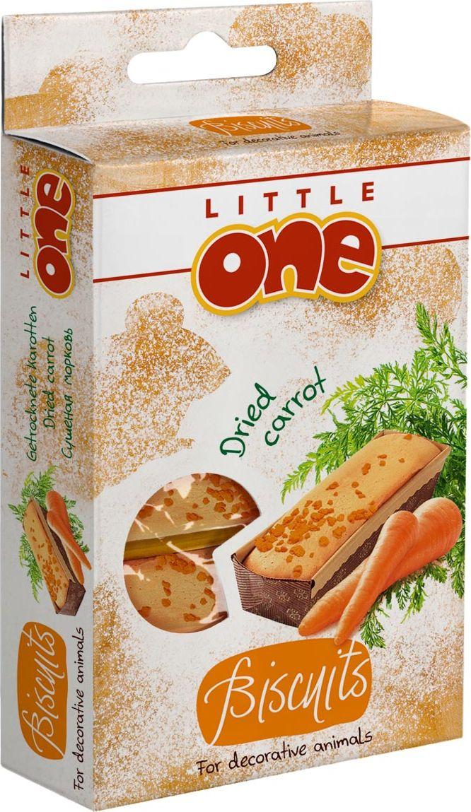 Лакомство для хомяков, крыс, мышей и песчанок Little One Biscuits, с морковью, 5 х 7 г корм little one для крыс 400 гр