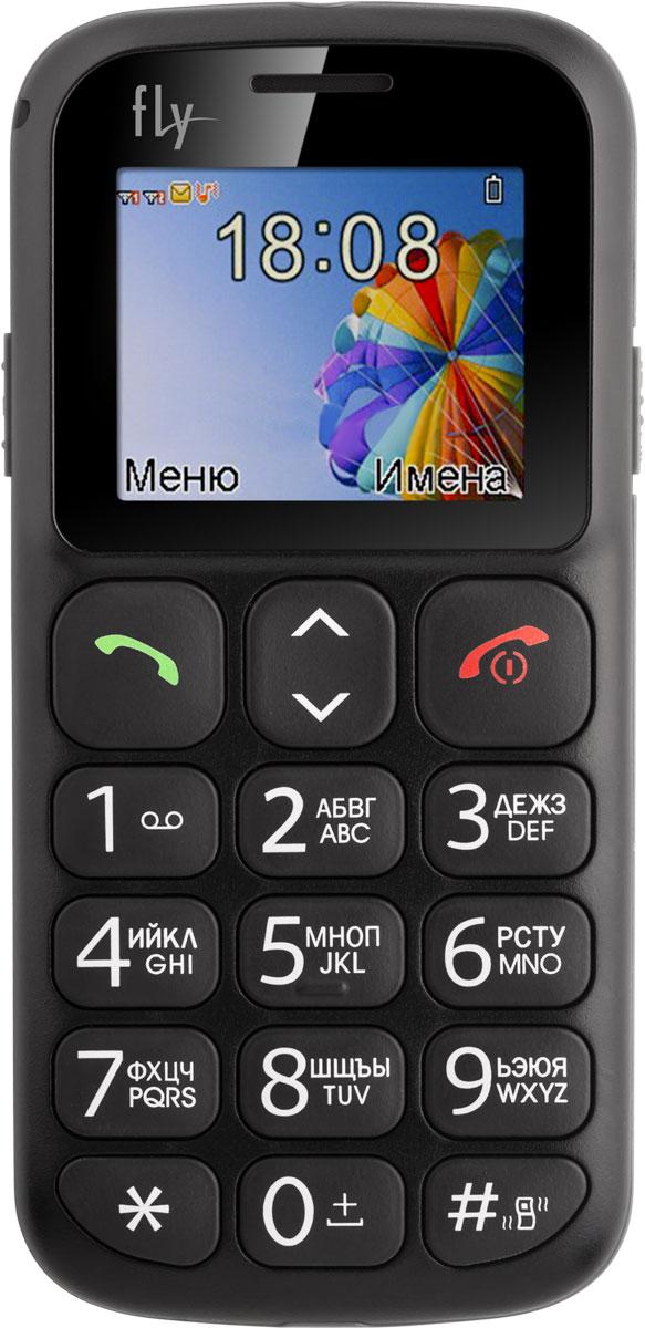 Fly Ezzy 7, Black9513Fly Ezzy 7 - модель, созданная специально для пожилых людей, детей и для тех, кто предпочитает в телефонах минимум функций, поддерживающую работу двух сим-карт в режиме ожидания.Телефон сконструирован в формате моноблока и выполнен из качественного пластика с металлической окантовкой. Отличительной особенностью Fly Ezzy 7 является легкий вес (82 г.), компактные размеры (116.7 x 56.3 x 14.4 мм) и эргономичностьПомимо классических характеристик Fly Ezzy 7 оснащён 1.77 цветным дисплеем с разрешением 160 x 128 пикселей.Аккумулятор Fly Ezzy 7 держит заряд 2.5 часа в режиме разговора и до 150 часов в режиме ожидания. Большие кнопки с крупным шрифтом и яркой подсветкой клавиатуры сделаны специально для людей со слабым зрением.Телефон оборудован аудиоплеером, воспроизводящим мелодии в формате MP3 а также FM радио.Телефон сертифицирован EAC и имеет русифицированную клавиатуру, меню и Руководство пользователя.
