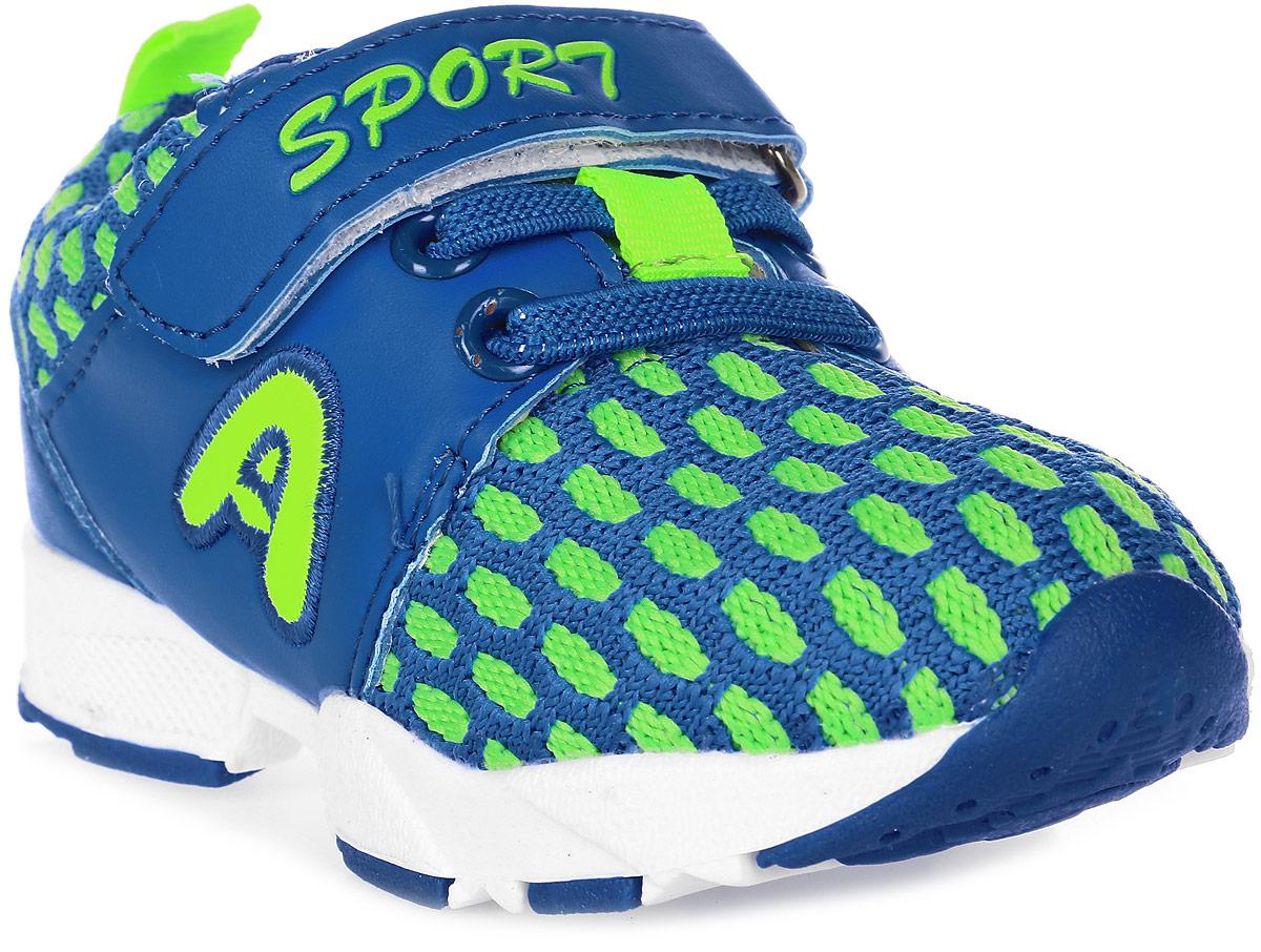 Кроссовки для девочки Мифер, цвет: синий. 7705C. Размер 227705CДетские кроссовки Мифер выполнены из качественной искусственной кожи и оформлены оригинальным принтом. Ремешок с липучкой обеспечит оптимальную посадку модели на ноге. Мягкая стелька придаст максимальный комфорт при движении. Подошва оснащена рифлением для лучшего сцепления с различными поверхностями.
