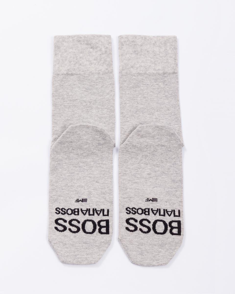 Носки мужские Mark Formelle, цвет: светло-серый. 6001K_5542. Размер 27 (42/43)6001K_5542Удобные носки Mark Formelle, изготовленные из высококачественного комбинированного материала, очень мягкие и приятные на ощупь, позволяют коже дышать. Эластичная резинка плотно облегает ногу, не сдавливая ее, обеспечивая комфорт и удобство. Модель дополнена вышивкой в виде надписи. Практичные и комфортные носки великолепно подойдут к любой вашей обуви.