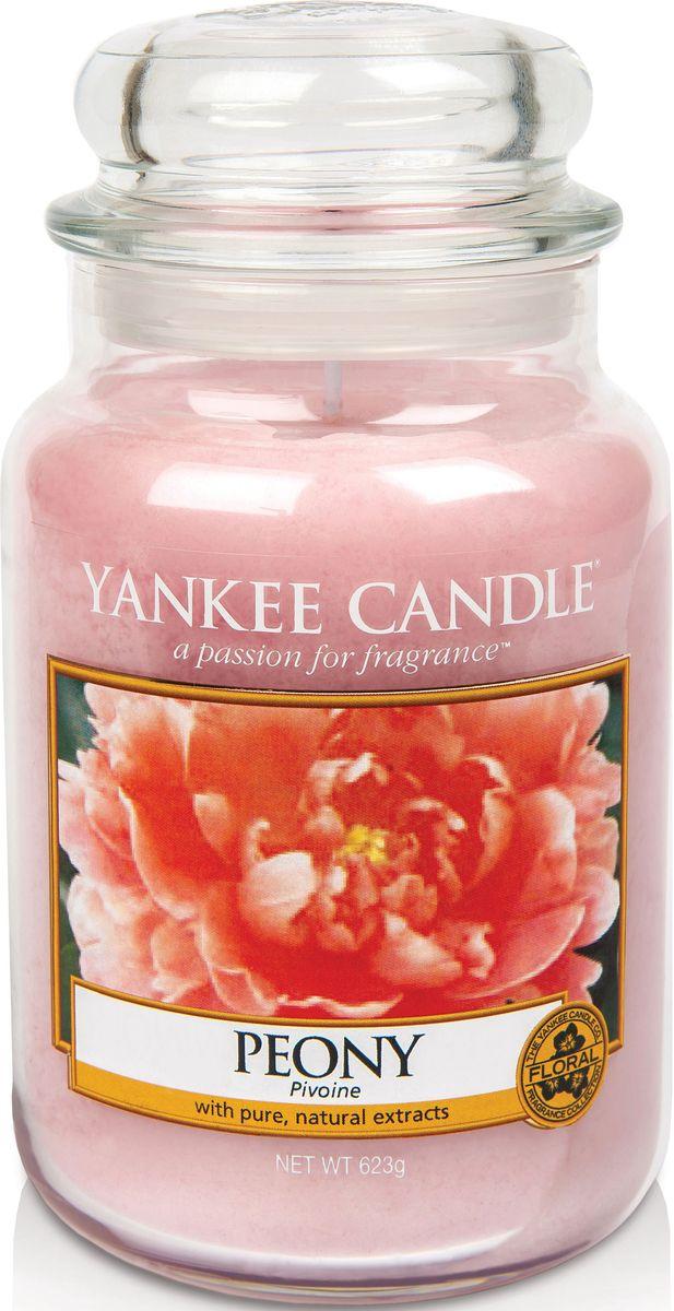Ароматическая свеча Yankee Candle Пион / Peony, 110-150 ч1507692EАроматическая свеча Yankee Candle не только окутает вас волшебным ароматом, но еще и прекрасно впишется в интерьер. Использовать изделие можно как в доме, так и на веранде или в саду. Свеча в стеклянной банке с крышкой выполнена из высокоочищенного парафина с добавлением натуральных эфирных масел. Стекло делает горение свечи безопасным.Описание ароматической композиции: ароматическая свеча с потрясающим свежим ароматом настоящих пионов.Верхняя нота: Сладкий пион.Средняя нота: Розовый пион.Базовая нота: Сандал.