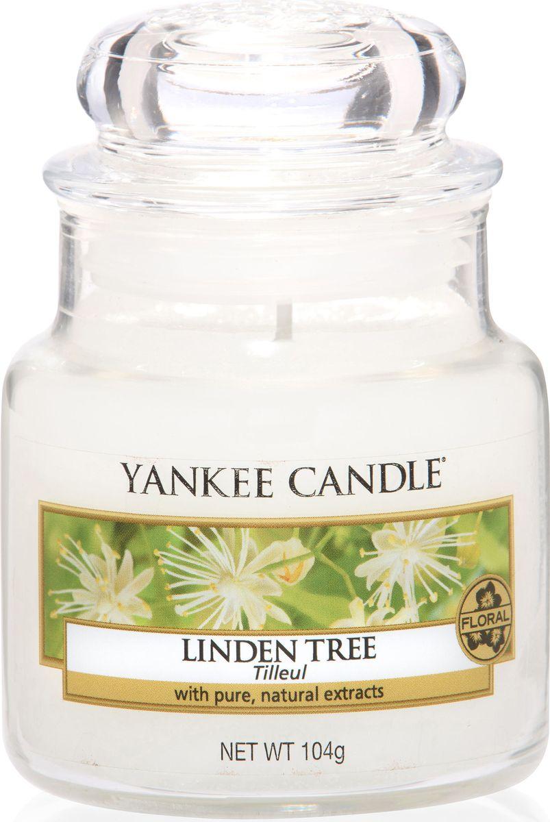Ароматическая свеча Yankee Candle Липа / Linden Tree, 25-45 ч1542832EАроматическая свеча Yankee Candle не только окутает вас волшебным ароматом, но еще и прекрасно впишется в интерьер. Использовать изделие можно как в доме, так и на веранде или в саду. Свеча в стеклянной банке с крышкой выполнена из высокоочищенного парафина с добавлением натуральных эфирных масел. Стекло делает горение свечи безопасным.Описание ароматической композиции: свежий аромат цветущей липы в солнечный тихий день.Верхняя нота: Листья хосты, Липовый цвет.Средняя нота: Калина.Базовая нота: Мускус, Кедр.