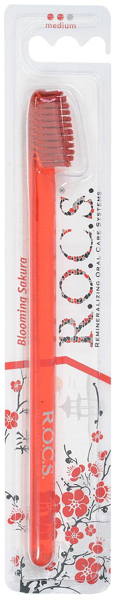 R.O.C.S. Зубная щетка Классическая, средняя жесткость цвет: оранжевый03-04-009_оранжевыйЗубная щетка R.O.C.S. Классическая разработана при участии стоматологов.Нетрадиционная скошенная подстрижка щетины обеспечивает: Эффективную чистку: качественное удаление зубного налета и поверхностных окрашиваний; Высокое качество очистки труднодоступных участков зубного ряда;Легкий доступ к дальним зубам.Тонкая ручка предотвращает излишнее давление при чистке. Высококачественная щетина имеет закругленные иотполированные на концах текстурированные щетинки, которые обеспечивают быстрое и интенсивное очищениеблагодаря увеличенной очищающей поверхности и особенностям аквадинамики волокна. Товар сертифицирован.