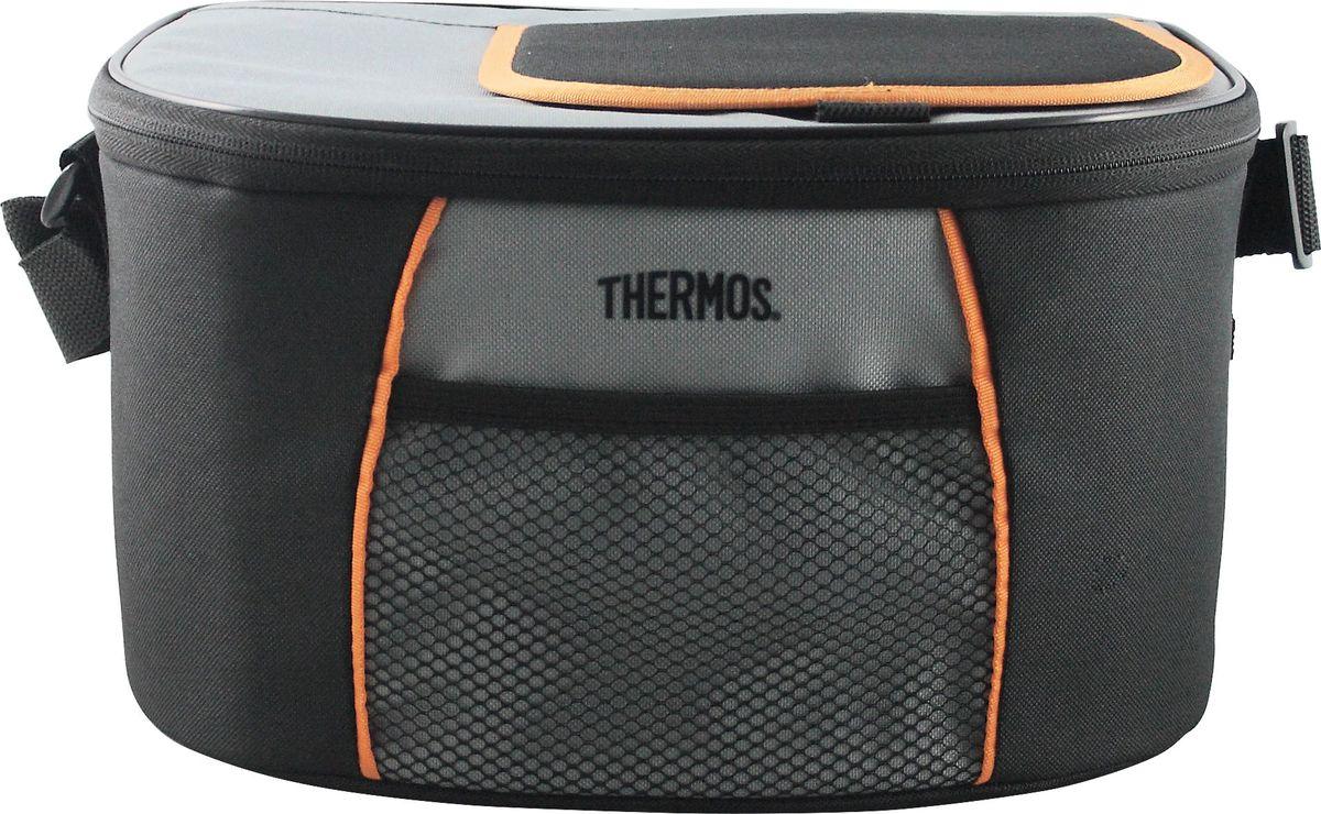 Сумка-термос Thermos E5 12 Can Cooler, цвет: черный, серый, 9 л490346Сумка-термос Thermos E5 12 Can Cooler отличается легкостью и компактностью. Сумка складывается и фиксируется в сложенном положении что облегчает хранение. Внутреннее наполнение стенок позволяет сохранять продукты замороженными, свежими или теплыми длительное время. Внутренняя поверхность обладает 100% герметичностью. При перевозке жидкостей это позволяет избежать протеканий.Объем: 9 л.