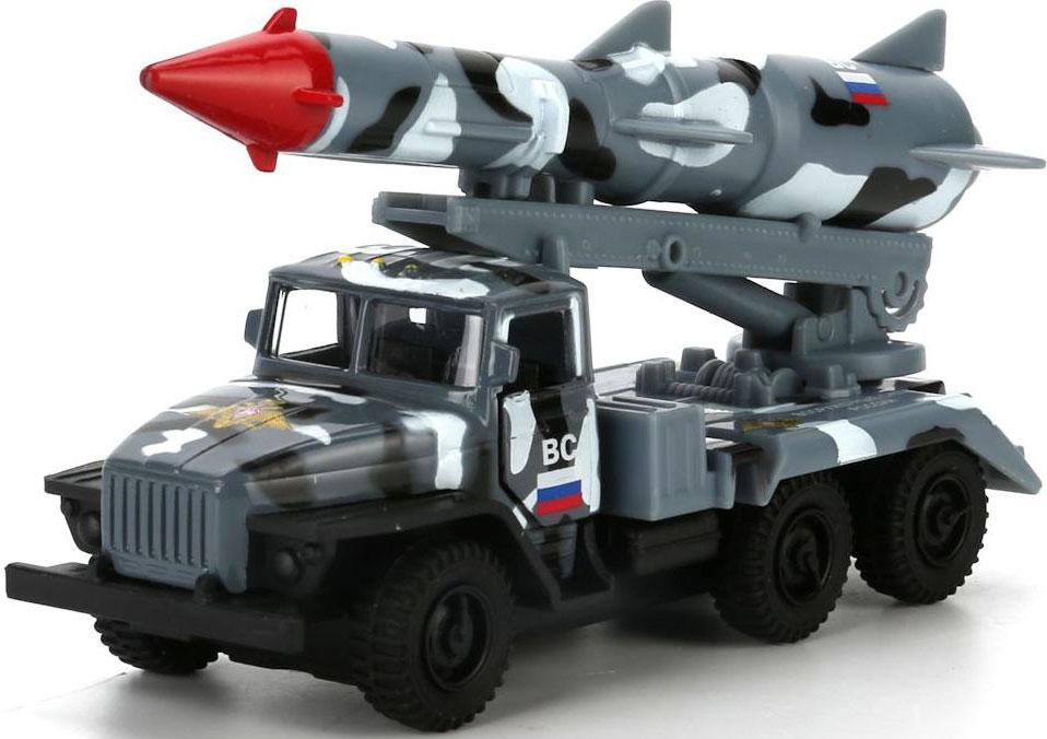 Технопарк Машинка инерционная Урал Ракета ВС цвет серый камуфляж знаки отличия в минске