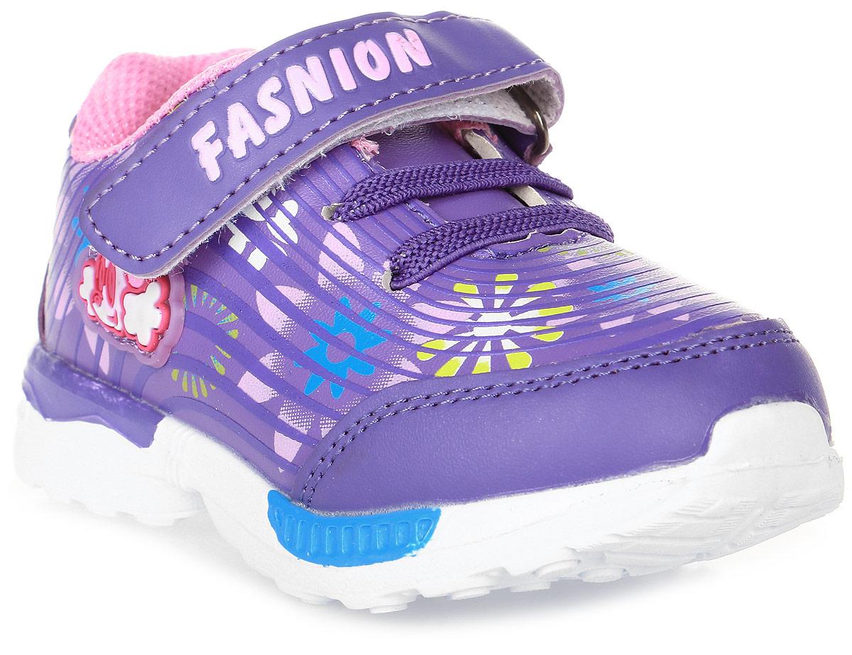 Кроссовки для девочки Мифер, цвет: фиолетовый. 7705A. Размер 217705AДетские кроссовки Мифер выполнены из качественной искусственной кожи и оформлены оригинальным принтом. Ремешок с липучкой обеспечит оптимальную посадку модели на ноге. Мягкая стелька придаст максимальный комфорт при движении. Подошва оснащена рифлением для лучшего сцепления с различными поверхностями.
