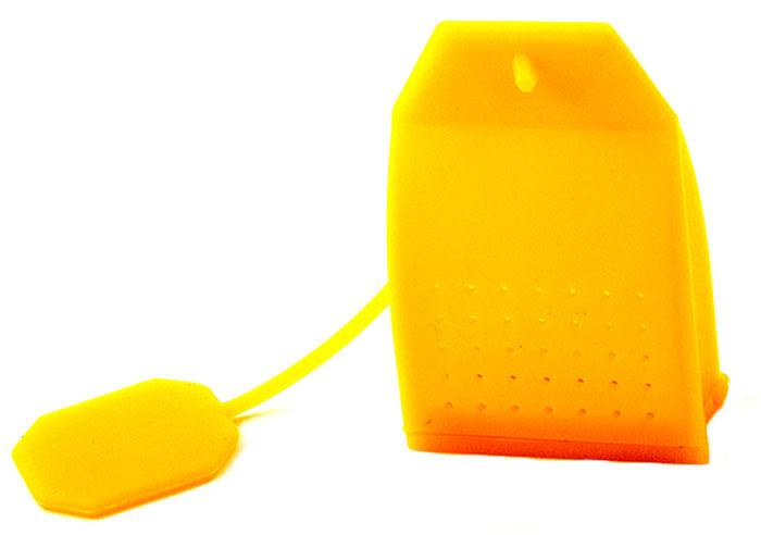 Ситечко для чая Эврика Пакетик, цвет: желтый96583Современные кухонные аксессуары - яркие и удобные, - отлично приживаются не только дома, но и в офисе. Небольшая ёмкость из пищевого силикона служит для заваривания листового чая прямо в кружке, задерживает чаинки, помогает обойтись без надоевших чайных пакетиков и радует забавным дизайном.
