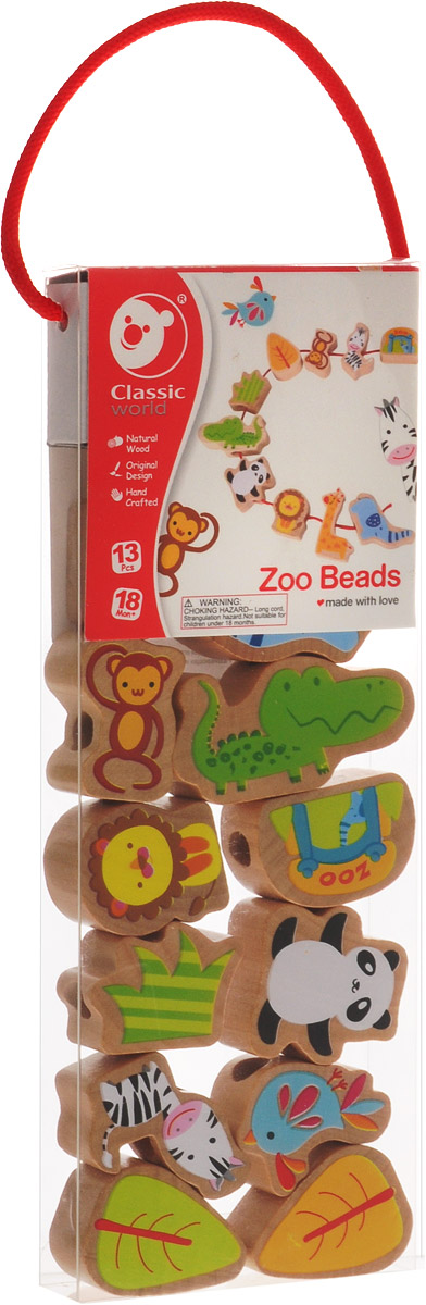 Classic World Игра-шнуровка Веселый зоопарк веселый зоопарк многоразовые наклейки