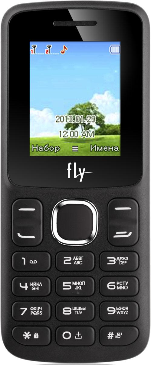Fly FF179, Black9515Мобильный телефон Fly FF179 оснащен 1,77-дюймовым экраном, созданным с применением технологии TN. За счет этого изображение на нем выглядит четким, ярким и контрастным.Встроенный проигрыватель дает возможность воспроизводить аудио- и видеофайлы популярных форматов. Кроме того, телефон можно использовать в качестве миниатюрного радиоприемника. Модель FF179 читает MP3-файлы и поддерживает работу с картами памяти на 16 Гб. Мобильный телефон помогает экономить на оплате счетов за услуги связи. Он поддерживает две SIM-карты стандартных размеров, позволяя менять операторов или тарифы в зависимости от ситуации.Телефон оснащен емким аккумулятором 600 мАч. Максимальная продолжительность работы устройства в режиме ожидания - 200 часов. При разговоре батареи хватает на 4 часа.Телефон сертифицирован EAC и имеет русифицированную клавиатуру, меню и Руководство пользователя.