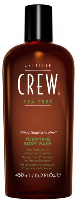 American Crew Tea Tree 3-in-1 Средство 3 в 1 Шампунь, Кондиционер и Гель для душа Чайное дерево, 450 мл7221484000Любите универсальные продукты для принятия водных процедур? Тогда вам непременно понравится разработка мастеров торговой марки American Crew! Средство для ухода за волосами и телом Чайное дерево совместило в себе преимущества геля для душа, шампуня и кондиционера. Отличный выбор для тех, кто постоянно опаздывает на работу или часто путешествует!Продукт содержит масло чайного дерева, которое отличается мощным дезинфицирующим действием. Экстракты хмеля и шалфея бережно ухаживают за волосами, даря им шелковистую мягкость, ослепительный блеск и силу. Продукт обладает насыщенным ароматом, который будет радовать своей свежестью до 8 часов! Настоящая находка для тех, кто обожает окружать себя стойкими ароматами. Средство обладает мягкой сбалансированной формулой и подходит для частого применения. Применение: нанести небольшое количество шампуня на мокрые волосы и кожу головы, остановить, после чего тщательно смыть водой. При необходимости повторить. Избегать контакта с глазами. Хранить Состав:Aqua (Water (Eau)), Sodium Laureth Sulfate, Dimethicone, Lauryl Glucoside, Cocamidopropyl Betaine, Acrylates Copolymer, Sodium Chloride, Laureth-4, Caprylyl Glycol, Glycol Distearate, Glyceryl Oleate, Coco-Glucoside, Hydroxypropyl Guar Hydroxypropyltrimonium Chloride, Laureth-23, Sodium Hydroxide, Citric Acid, Disodium EDTA, Melaleuca Alternifolia (Tea Tree) Leaf Oil, Propylene Glycol, Humulus Lupulus (Hops) Flower Extract, Salvia Officinalis (Sage) Leaf Extract, Parfum (Fragrance), Phenoxyethanol, Benzyl Alcohol. Объем: 450 мл