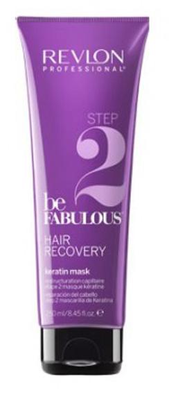 Revlon Professional Be Fabulous Hair Recovery Keratin Mask Step 2 Шаг 2. Маска с кератином, 250 мл7222464000Профессиональная маска с кератином для восстановления волос испанского бренда Revlon Professional. Содержит креатин, кератин, белки и бетаин. Глубоко питает и увлажняет волосы, регенерирует волосы по всей длине. Представляет собой 2-й этап программы восстановления волос. Маска специально разработана для сухих и сильно поврежденных волос и предназначена для комплексного использования с очищающим и запечатывающим шампунем, а также кондиционером.Применение: нанести восстанавливающую маску с кератином Revlon по всей длине вымытых влажных волос, оставить на 3-5 минут, тщательно промыть теплой водой. Для достижения эффекта восстановленных здоровых волос рекомендуется дополнительное использование очищающего открывающего и запечатывающего кутикулу шампуней и кондиционера серии Be Fabulous Revlon.Объем: 250 мл