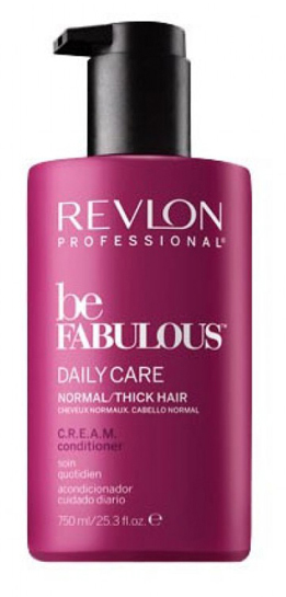 Revlon Professional Be Fabulous C.R.E.A.M. Conditioner For Normal Thick Hair Кондиционер для нормальных/густых волос, 750 мл кондиционер revlon professional volume conditioner 250 мл