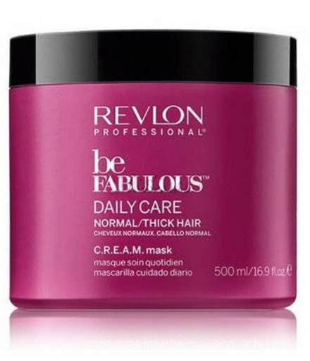 Revlon Professional Be Fabulous C.R.E.A.M. Mask For Normal Thick Hair Маска для нормальных/густых волос, 500 мл сыворотка lumene arctic dew quenching aqua serum 30 мл
