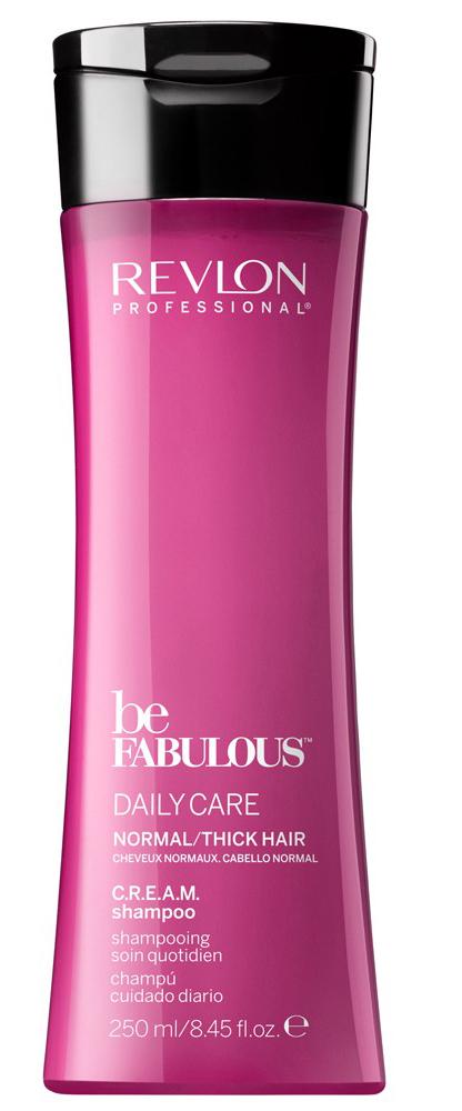 Revlon Professional Be Fabulous C.R.E.A.M. Shampoo For Normal Thick Hair Очищающий шампунь для нормальных/густых волос, 250 мл7222470000Профессиональный шампунь для ежедневного очищения нормальных или густых волос испанского бренда Revlon Professional. Предназначен для ежедневного мягкого очищения волос, обладает мультиухаживающим эффектом, обеспечивает сохранение цвета, восстановление, блеск, антивозрастной эффект и увлажнение.Применение: нанести небольшой объем очищающего шампуня для нормальных и густых волос Revlon, вспенить, тщательно промыть теплой водой. Для достижения эффекта профессионально ухоженных сияющих волос рекомендуется дополнительное использование кондиционера и маски для нормальных или густых волос серии Be Fabulous Cream Revlon.Объем: 1000 мл