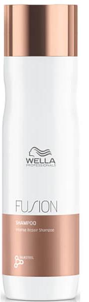 Wella Professionals Fusion Shampoo Интенсивно восстанавливающий шампунь, 250 мл81616671Шампунь из новой линии для интенсивного восстановления волос представляет собой средство очищения из 3-этапного сервиса длительностью 20 минут, который включает в себя - подготовку (очищение), уход и запечатывание кутикулы волоса (может проводиться с применением климазона или вапоризатора). Эта изысканная премиальная процедура с применением эксклюзивной амино-сыворотки Fusion способствует интенсивному восстановлению волос, делает их эластичными и защищает от дальнейших повреждений.Очень нежный шампунь, который интенсивно ухаживает за поврежденными волосами, одновременно очищая их. Шампунь с технологией EDDS, микронизированными липидами и аминокислотами шелка.Способ применения: Нанесите небольшое количество шампуня от Велла на влажные волосы, помассируйте кожу головы и тщательно смойте средство теплой водой. При необходимости повторите процедуру еще раз.