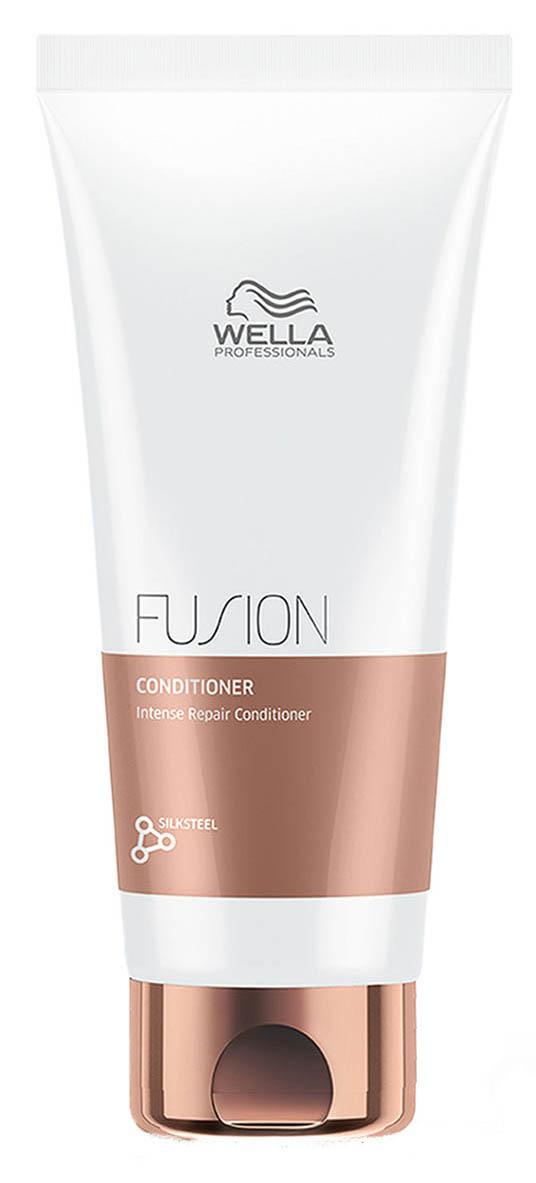 Wella Professionals Fusion Conditioner Интенсивно восстанавливающий бальзам, 200 мл81616676Бальзам мгновенно улучшает состояние волос, подверженных механически повреждениями. Бальзам способствует легкому расчесыванию, делает волосы гладкими и эластичными. В составе средства - аминокислоты шелка. Бальзам из новой линии для интенсивного восстановления волос представляет собой средство ухода из 3-этапного сервиса длительностью 20 минут, который включает в себя - подготовку (очищение), уход и запечатывание кутикулы волоса (может проводиться с применением климазона или вапоризатора).Эта изысканная премиальная процедура с применением эксклюзивной амино-сыворотки Fusion способствует интенсивному восстановлению волос, делает их эластичными и защищает от дальнейших повреждений.Способ применения: Нанесите на влажные, вымытые волосы. Оставьте на 30 секунд и затем тщательно смойте. Объем: 1000 мл