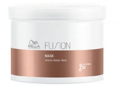 Wella Professionals Fusion Mask - Интенсивно восстанавливающая маска 500 мл cotton bull and letters print round neck short sleeve t shirt
