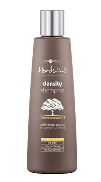Hair Company Professional Head Wind Density Shampoo Шампунь, придающий объём, 250 мл256159/LB12518 RUSПрофессиональный шампунь для тонких волос на основе меда итальянского бренда Hair Company. Обладает натуральным медовым ароматом, увлажняющими и витаминизирующими свойствами. Идеально подходит для ухода за тонкими волосами. Формула маски основана на экстракте пчелиного меда и обогащена высокими питательными и уплотняющими свойствами. Не имеет в составе силиконов и парабенов.Способ применения: нанести небольшой объем шампуня придающего объем на чистые мокрые волосы, вспенить, тщательно смыть теплой водой. Для максимального эффекта объемных плотных волос рекомендуется использование дополнительных уходовых средств серии Head Wind Density.Объем: 1000 мл