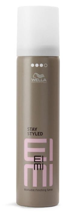 Wella EIMI Stay Styled Лак для волос сильной фиксации, 75 мл81516061/3118p>Лак для волос 3 степени фиксации станет финальным штрихом при создании идеальной прически. Способ применения: встряхнуть флакон, а затем распылить на сухие волосы. Объем: 75 мл.