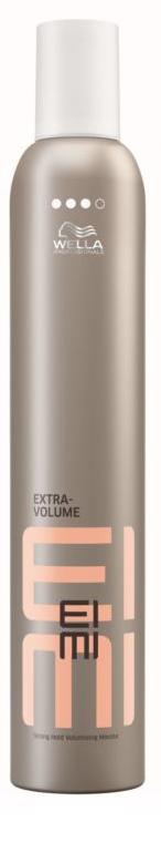 WELLA EIMI Extra Volume - Пена для укладки сильной фиксации 500 мл81511650/4709Идеальная форма укладки с восхитительным объемом надолго с пеной для укладки сильной фиксации EIMI Extra Volume от Wella Professionals. Пена содержит защитные фильтры, которые предохраняют волосы от воздействия высоких температур во время укладки.
