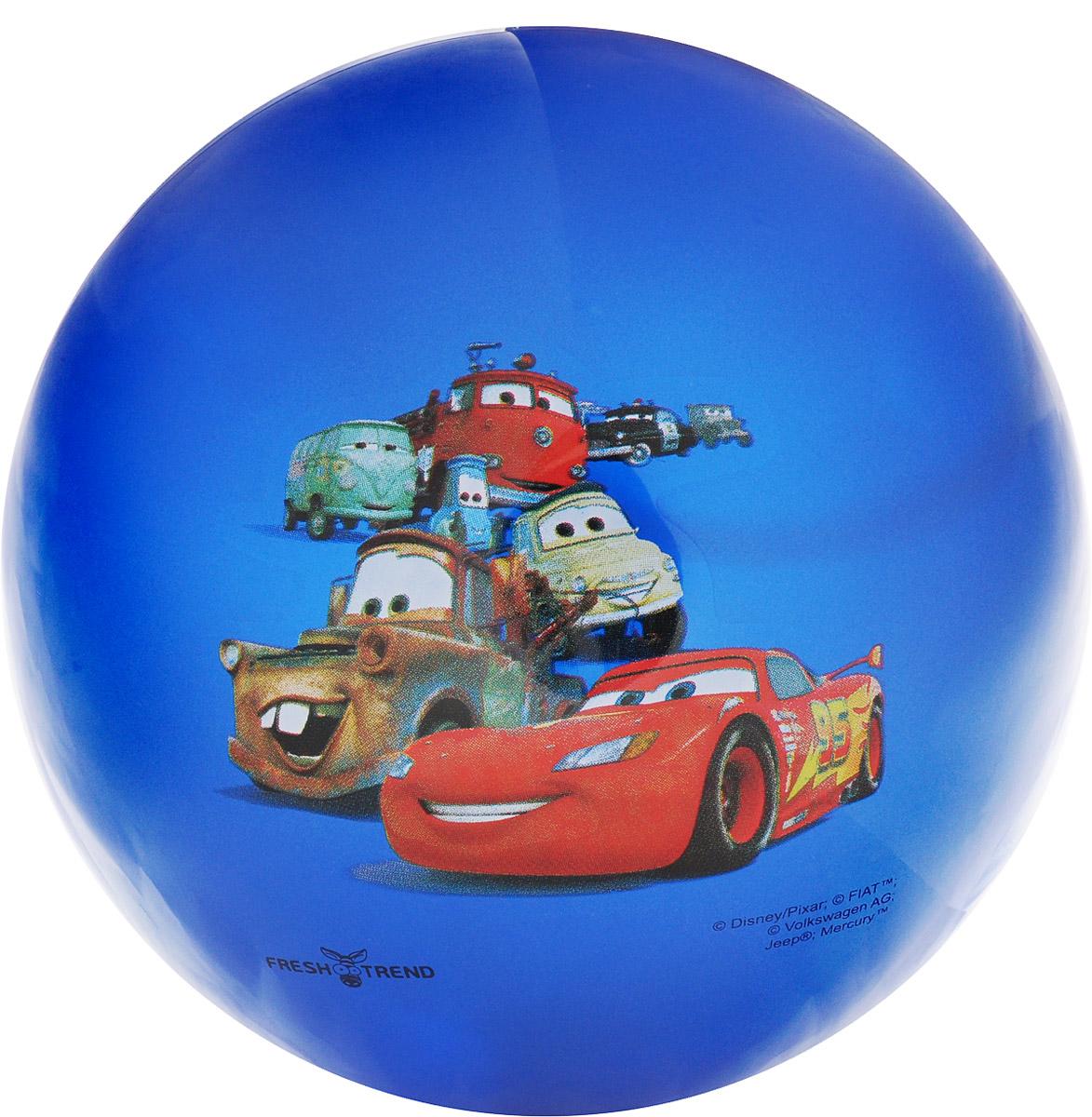 Fresh Trend Мяч детский Тачки цвет синий металлик 32 см