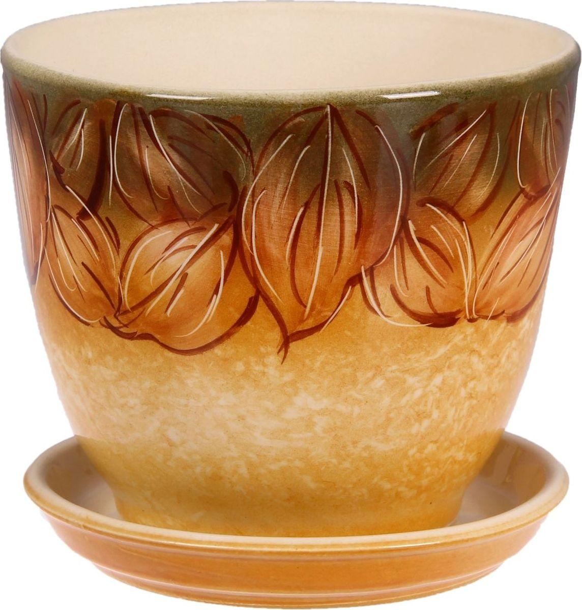 Кашпо Керамика ручной работы Кедр. Листья, 2,2 л1099336Комнатные растения — всеобщие любимцы. Они радуют глаз, насыщают помещение кислородом и украшают пространство. Каждому из них необходим свой удобный и красивый дом. Кашпо из керамики прекрасно подходят для высадки растений: за счет пластичности глины и разных способов обработки существует великое множество форм и дизайнов пористый материал позволяет испаряться лишней влаге воздух, необходимый для дыхания корней, проникает сквозь керамические стенки! позаботится о зеленом питомце, освежит интерьер и подчеркнет его стиль.