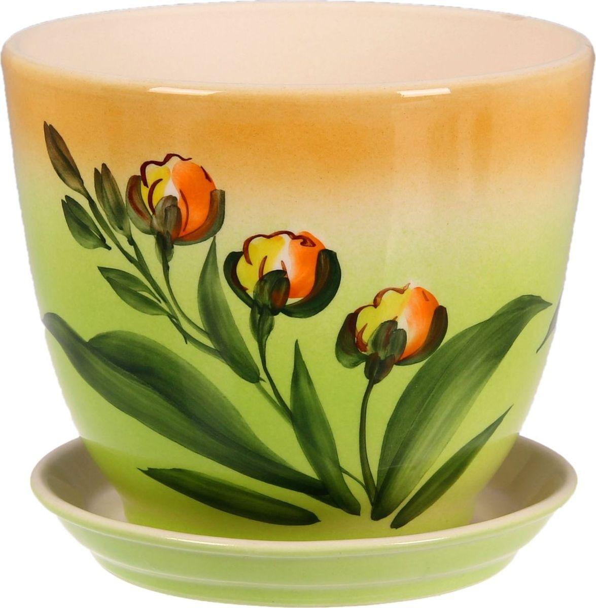 Кашпо Керамика ручной работы Кедр. Орхидея, 2,2 л1099341Комнатные растения - всеобщие любимцы. Они радуют глаз, насыщают помещение кислородом и украшают пространство. Каждому из них необходим свой удобный и красивый дом. Кашпо из керамики прекрасно подходят для высадки растений:пористый материал позволяет испаряться лишней влаге;воздух, необходимый для дыхания корней, проникает сквозь керамические стенки. Кашпо Кедр. Орхидея позаботится о зеленом питомце, освежит интерьер и подчеркнет его стиль.
