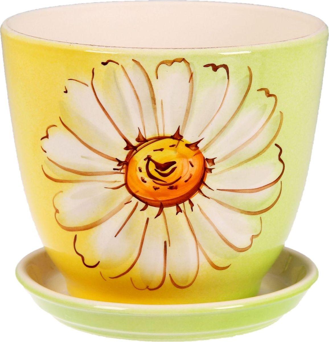 Кашпо Керамика ручной работы Кедр. Ромашка, 2,2 л1099342Комнатные растения - всеобщие любимцы. Они радуют глаз, насыщают помещение кислородом и украшают пространство. Каждому из них необходим свой удобный и красивый дом. Кашпо из керамики прекрасно подходят для высадки растений:пористый материал позволяет испаряться лишней влаге;воздух, необходимый для дыхания корней, проникает сквозь керамические стенки. Кашпо Кедр. Ромашка позаботится о зеленом питомце, освежит интерьер и подчеркнет его стиль.