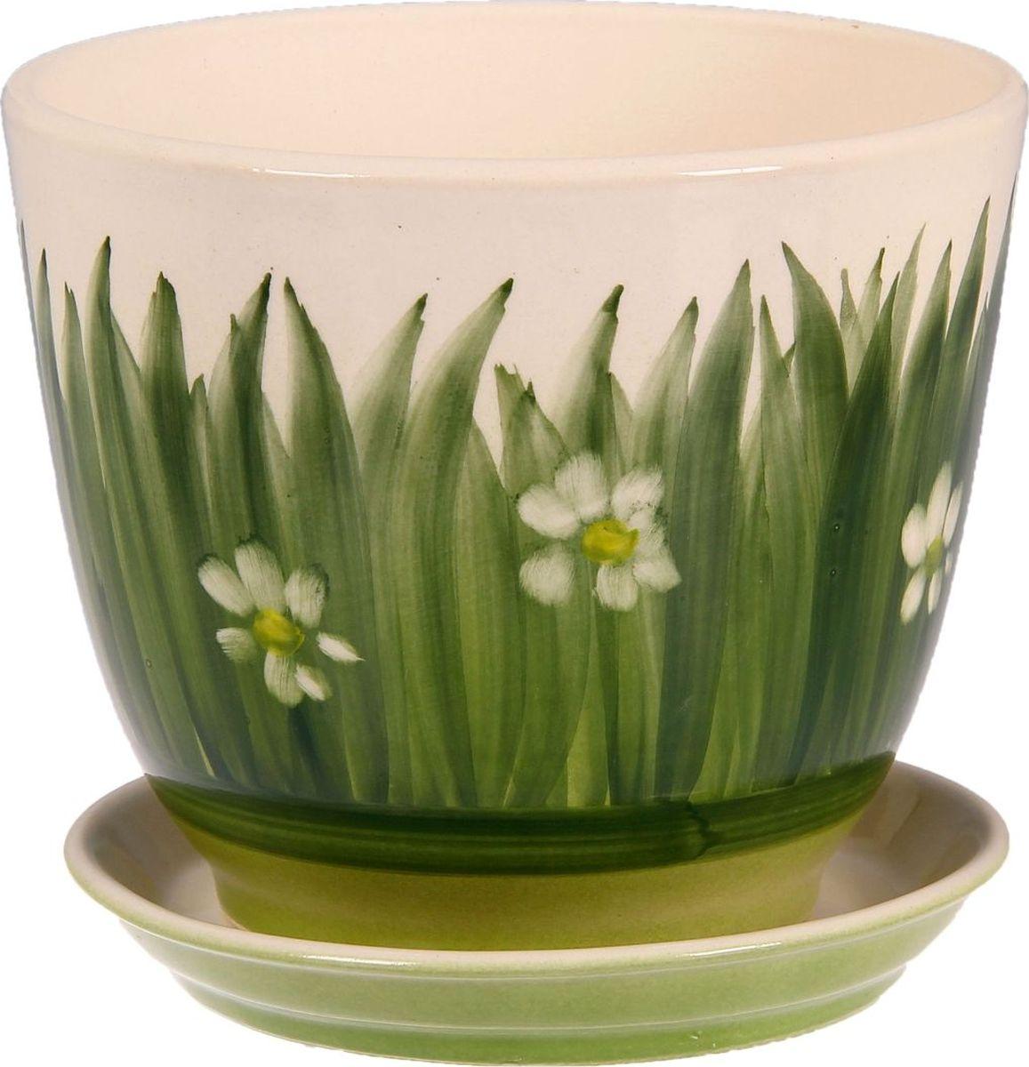 Кашпо Керамика ручной работы Кедр. Лужайка, цвет: зеленый, 2,2 л1099343Комнатные растения - всеобщие любимцы. Они радуют глаз, насыщают помещение кислородом и украшают пространство. Каждому из них необходим свой удобный и красивый дом. Кашпо из керамики прекрасно подходят для высадки растений:пористый материал позволяет испаряться лишней влаге;воздух, необходимый для дыхания корней, проникает сквозь керамические стенки. Кашпо Кедр. Лужайка позаботится о зеленом питомце, освежит интерьер и подчеркнет его стиль.