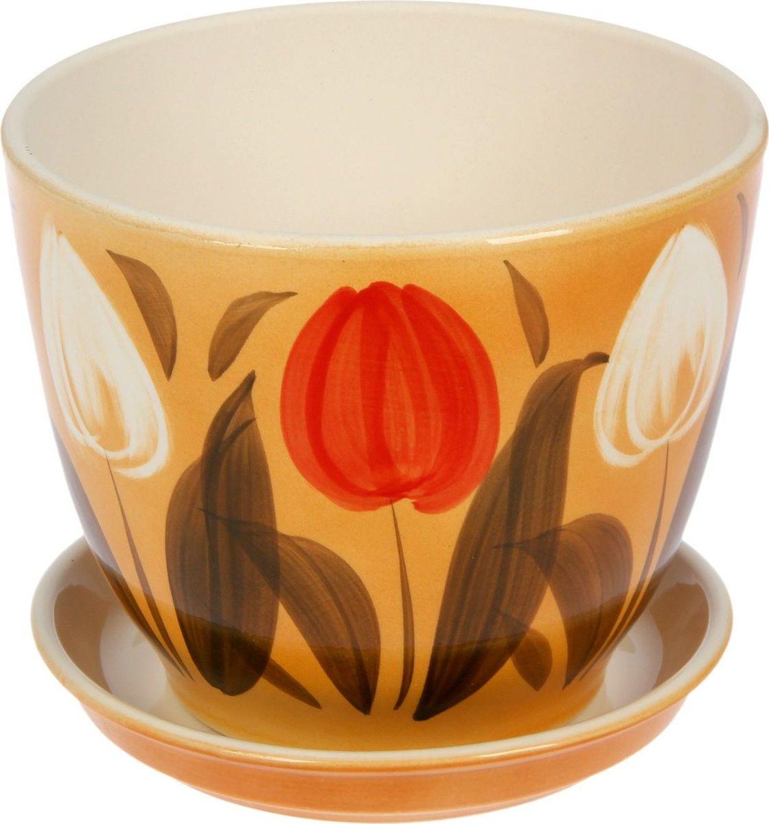 Кашпо Керамика ручной работы Кедр. Тюльпан, 2,2 л1099344Комнатные растения - всеобщие любимцы. Они радуют глаз, насыщают помещение кислородом и украшают пространство. Каждому из них необходим свой удобный и красивый дом. Кашпо из керамики прекрасно подходят для высадки растений:пористый материал позволяет испаряться лишней влаге;воздух, необходимый для дыхания корней, проникает сквозь керамические стенки. Кашпо Кедр. Тюльпан позаботится о зеленом питомце, освежит интерьер и подчеркнет его стиль.