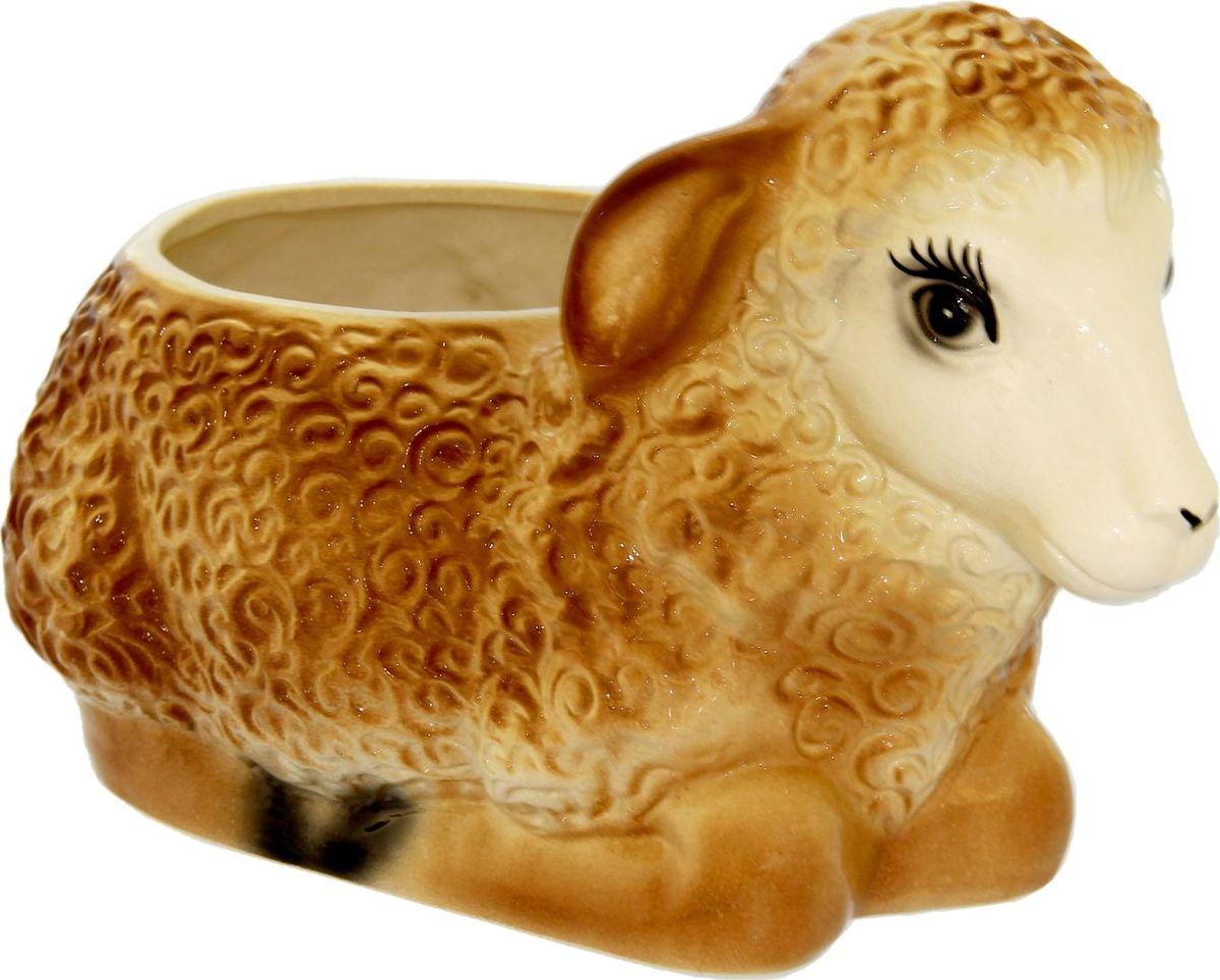 Кашпо Керамика ручной работы Коричневая овечка, 4 л