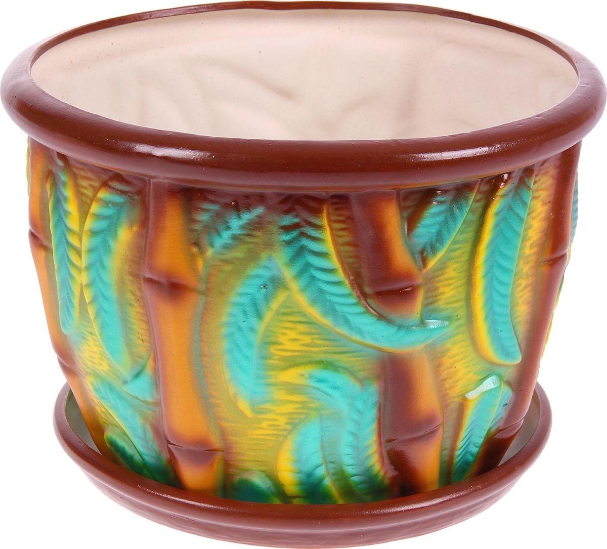 Кашпо Керамика ручной работы Бамбук, 11 л1114241Комнатные растения — всеобщие любимцы. Они радуют глаз, насыщают помещение кислородом и украшают пространство. Каждому из них необходим свой удобный и красивый дом. Кашпо из керамики прекрасно подходят для высадки растений: за счёт пластичности глины и разных способов обработки существует великое множество форм и дизайновпористый материал позволяет испаряться лишней влагевоздух, необходимый для дыхания корней, проникает сквозь керамические стенки! #name# позаботится о зелёном питомце, освежит интерьер и подчеркнёт его стиль.