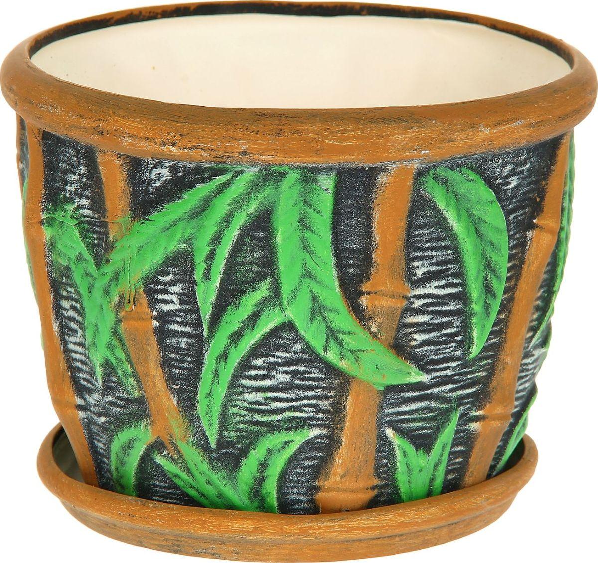 Кашпо Керамика ручной работы Бамбук, 4 л1114246Комнатные растения — всеобщие любимцы. Они радуют глаз, насыщают помещение кислородом и украшают пространство. Каждому из них необходим свой удобный и красивый дом. Кашпо из керамики прекрасно подходят для высадки растений: за счёт пластичности глины и разных способов обработки существует великое множество форм и дизайновпористый материал позволяет испаряться лишней влагевоздух, необходимый для дыхания корней, проникает сквозь керамические стенки! #name# позаботится о зелёном питомце, освежит интерьер и подчеркнёт его стиль.