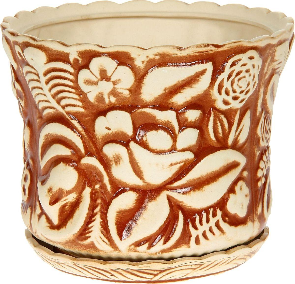Кашпо Керамика ручной работы Букет, 11 л1114249Комнатные растения — всеобщие любимцы. Они радуют глаз, насыщают помещение кислородом и украшают пространство. Каждому из них необходим свой удобный и красивый дом. Кашпо из керамики прекрасно подходят для высадки растений: за счёт пластичности глины и разных способов обработки существует великое множество форм и дизайновпористый материал позволяет испаряться лишней влагевоздух, необходимый для дыхания корней, проникает сквозь керамические стенки! #name# позаботится о зелёном питомце, освежит интерьер и подчеркнёт его стиль.