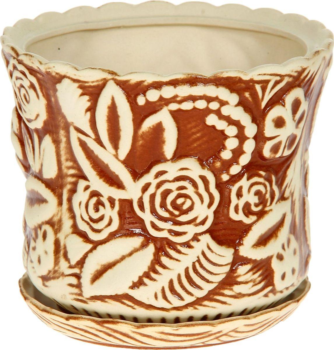 Кашпо Керамика ручной работы Букет, 2,3 л1114250