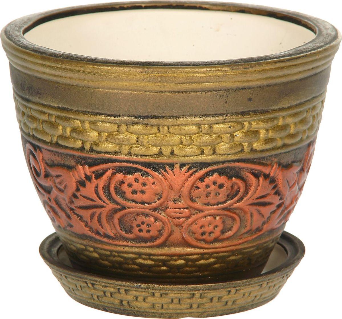 Кашпо Керамика ручной работы Венеция, 4 л1114255Комнатные растения — всеобщие любимцы. Они радуют глаз, насыщают помещение кислородом и украшают пространство. Каждому из них необходим свой удобный и красивый дом. Кашпо из керамики прекрасно подходят для высадки растений: за счёт пластичности глины и разных способов обработки существует великое множество форм и дизайновпористый материал позволяет испаряться лишней влагевоздух, необходимый для дыхания корней, проникает сквозь керамические стенки! #name# позаботится о зелёном питомце, освежит интерьер и подчеркнёт его стиль.