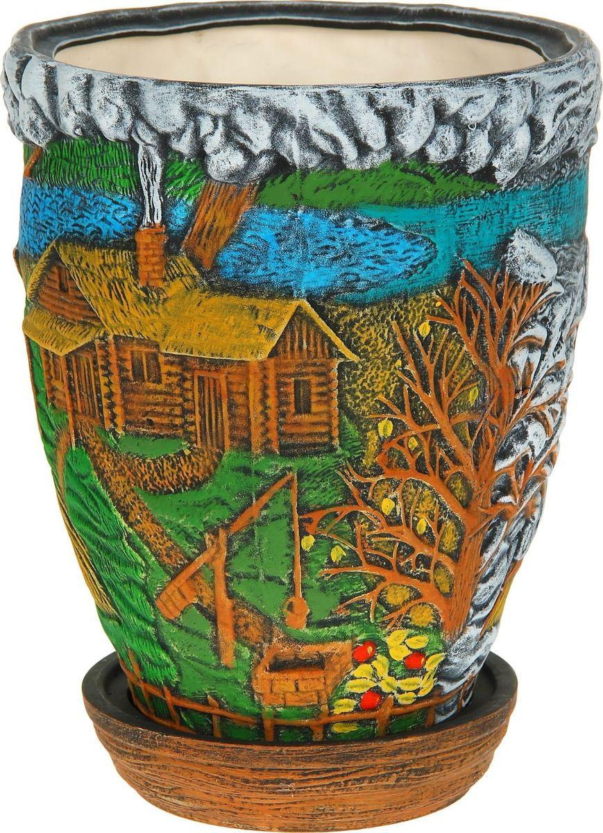 Кашпо Керамика ручной работы Времена года, 22 л1114260