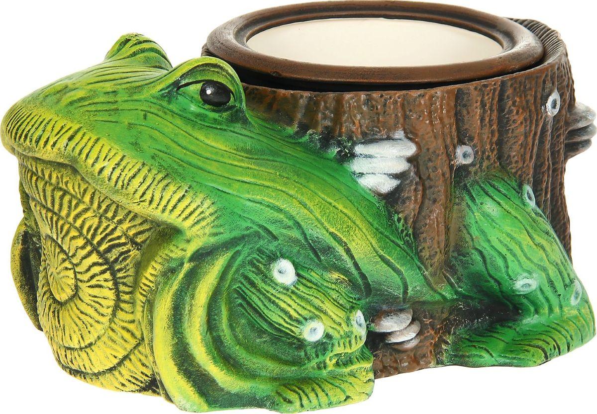 Кашпо Керамика ручной работы Жаба, 4 л1114278Комнатные растения — всеобщие любимцы. Они радуют глаз, насыщают помещение кислородом и украшают пространство. Каждому из растений необходим свой удобный и красивый дом. Поселите зелёного питомца в яркое и оригинальное фигурное кашпо. Выберите подходящую форму для детской, спальни, гостиной, балкона, офиса или террасы. #name# позаботится о растении, украсит окружающее пространство и подчеркнёт его оригинальный стиль.