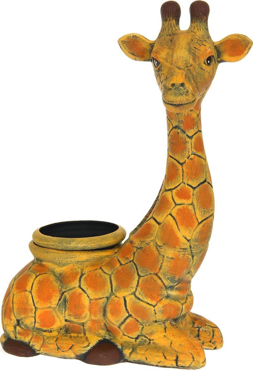Кашпо Керамика ручной работы Жираф, 2,5 л1114281Комнатные растения - всеобщие любимцы. Они радуют глаз, насыщают помещение кислородом и украшают пространство. Каждому из них необходим свой удобный и красивый дом. Кашпо из керамики прекрасно подходят для высадки растений: за счет пластичности глины и разных способов обработки существует великое множество форм и дизайнов. Пористый материал позволяет испаряться лишней влаге воздух, необходимый для дыхания корней.