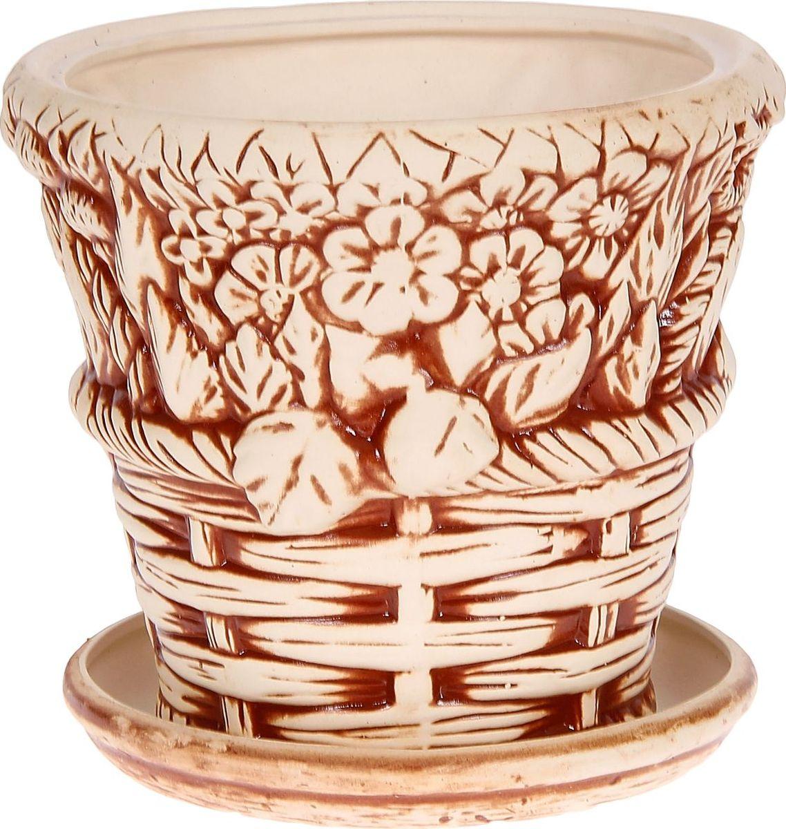 Кашпо Керамика ручной работы Корзинка, цвет: коричневый, 6 л1114288Комнатные растения — всеобщие любимцы. Они радуют глаз, насыщают помещение кислородом и украшают пространство. Каждому из них необходим свой удобный и красивый дом. Кашпо из керамики прекрасно подходят для высадки растений: за счёт пластичности глины и разных способов обработки существует великое множество форм и дизайновпористый материал позволяет испаряться лишней влагевоздух, необходимый для дыхания корней, проникает сквозь керамические стенки! #name# позаботится о зелёном питомце, освежит интерьер и подчеркнёт его стиль.