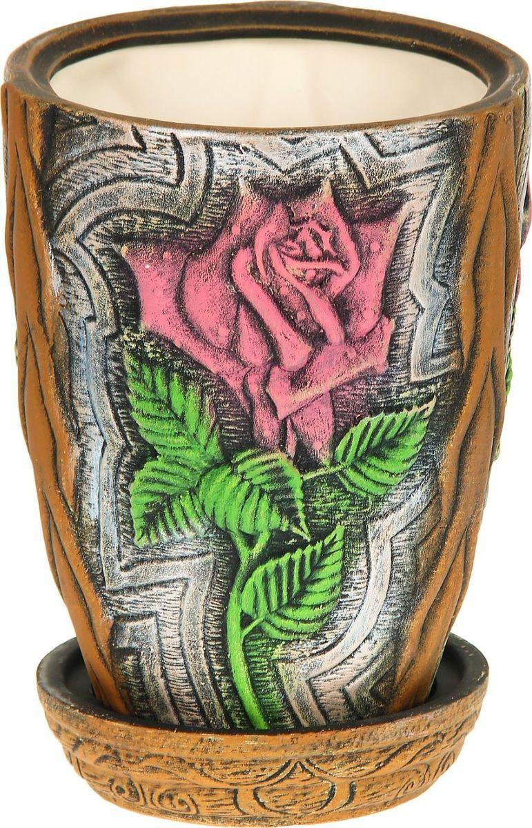 Кашпо Керамика ручной работы Роза, цвет: красный, 5 л1114302Комнатные растения — всеобщие любимцы. Они радуют глаз, насыщают помещение кислородом и украшают пространство. Каждому из них необходим свой удобный и красивый дом. Кашпо из керамики прекрасно подходят для высадки растений: за счёт пластичности глины и разных способов обработки существует великое множество форм и дизайновпористый материал позволяет испаряться лишней влагевоздух, необходимый для дыхания корней, проникает сквозь керамические стенки! #name# позаботится о зелёном питомце, освежит интерьер и подчеркнёт его стиль.