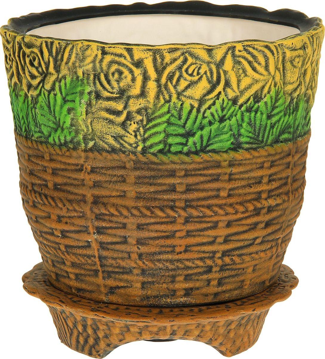 Кашпо Керамика ручной работы Розы в корзине, цвет: желтый, 15 л1114305Декоративное кашпо, выполненное из высококачественной керамики, предназначено для посадки декоративных растений и станет прекрасным украшением для дома. Пористый материал позволяет испаряться лишней влаге, а воздух, необходимый для дыхания корней, проникает сквозь керамические стенки. Такое кашпо украсит окружающее пространство и подчеркнет его оригинальный стиль.